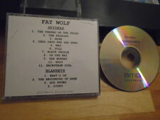 Rare Promo Fay Wolf Cd Spiders / Blankets ep actress Terminator Sarah Connor pop