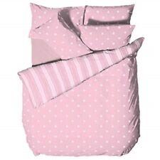Catherine Lansfield Polka Dot Pink Printed Duvet Cover Set King Size ~Free P&P~