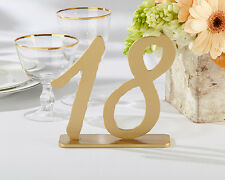 Good As Gold Classic Wedding Table Numbers (13-18) Party Reception Event Decor