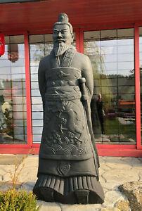 Terrakotta Kaiser 205cm (Armee, Soldat, Krieger), lebensgroß, antrazit/schwarz