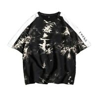 Mens Shirts Round Collar Leisure Short Sleeve Printed Floral New Loose Korean