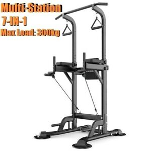Power Tower Chin Up Station Pull Up Multi-Grip Bar Home Gym Power Rack Fitness