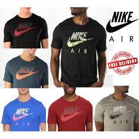 Nike Air Mens Speckle Futura T-Shirts Swoosh Logo Sports Casual Gym Tee