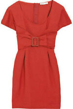 NWT SEE by CHLOE RED FRONT BUCKLE DRESS SZ US 6 42