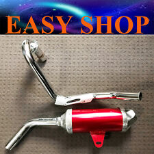 Exhaust Pipe Muffler BBR HONDA XR50 CRF50 XR 50 125CC D Section Style Red Bike