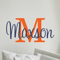 Boys Name Wall Decal Bedroom Personalized Decor Baby Nursery Vinyl Lettering