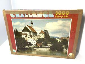 vtg 1980s whitman 3000 piece jigsaw puzzle Fussen & The river Lech West Germany
