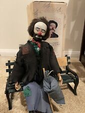 Mint Condition weary willie With Bench Emmett Kelly The Clown Tribute