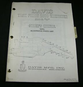 CASE DAVIS Task Force 2000 Trencher Tractor Model A Parts Owners Manual Book