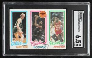 1980-81 Topps Larry Bird Bill Cartwright John Drew #23-164-34 SGC 6.5 Rookie HOF