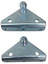 Angled Lift Support Bracket Zinc Plated 10 Gauge Steel 10mm Ball Stud Gas Shock