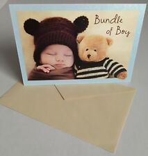 Congratulations New Baby Boy Greeting Card & Envelope Set by Forget Me Not