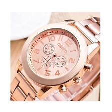 Luxury Rose Gold Chrono Watch Numbers Time Elegant Love Present Gift UK Warranty