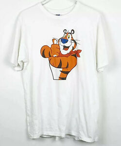 Vintage Kellogg Frosted Flakes Tony The Tiger T-Shirt Graphic Tee Size Large