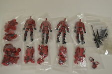 Marauder Task Force Command Ops Red GI Joe Style Action Figure Lot With Gear