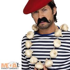 Hombre francés Guirnalda De Ajo Collar Accesorio Disfraz Elaborado Vestido  Halloween Vamp 385b47730ee