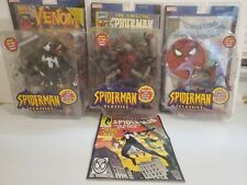 Toy Biz Marvel Legends Spiderman Classics Man-Spider Venom Comic Books Lot of 3