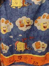 2004 Nickelodeon Spongebob Crabby Patty Dreams FULL FLAT Sheet Crafting Fabric