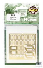 309 Ratio N Gauge Industrial Windows Etched Brass Kit