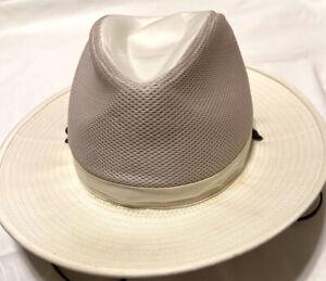 Coolibar Mens Tan Vented Sun Hat Crushable Hat Size XXL