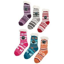 Snoozies   cozy & Warm Sherpa Lined slippers socks washable Colour Various New