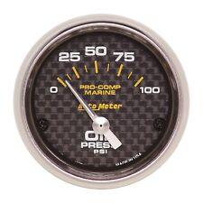 AutoMeter 200758-40 Marine Electric Oil Pressure Gauge