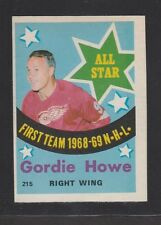 1969-70 OPC O-PEE-CHEE # 215  GORDIE  HOWE ALL STAR  EM+/NRMT CONDITION INV 2544