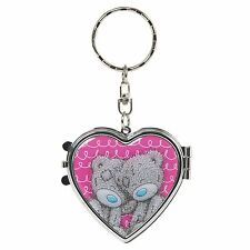 Me to You Heart Key Ring Mirror Compact Beauty Accessory - Tatty Teddy Bear