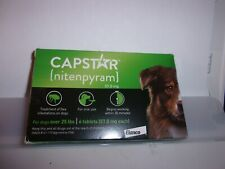 Capstar (nitenpyram) for Large Dogs Over 25 lbs --Oral Flea Treatment 6 Tablets