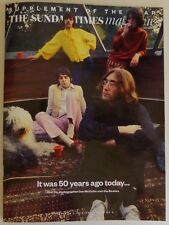 THE SUNDAY TIMES MAGAZINE,22 JULY 2018, THE BEATLES, 50 YEARS AGO TODAY - 3 OF 4