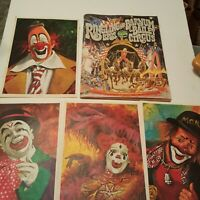 1976 VTG Bicentennial RINGLING BROS & BARNUM BAILEY CIRCUS PROGRAM Clown Posters