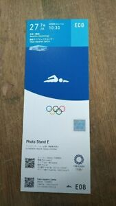 Tokyo 2020 Olympic Games Swimming used ticket 27/07/2021