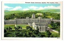 Mid-1900s Worcester County Sanatorium, Bolyston, MA Postcard