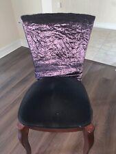 Bombay Plum  Velvet Chair Back Cover Set Of 4