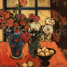 27x27 ROSES by JAE DOUGALL BEAUTIFUL STILL LIFE CANVAS