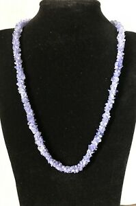 Tanzanite Nuggets Rope Necklace  21.5 inches length