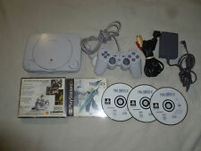MINI PS ONE PLAYSTATION PS1 SYSTEM CONSOLE & GAME LOT FINAL FANTASY VII 7 SONY >