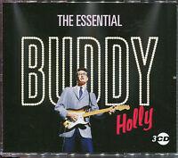 THE ESSENTIAL BUDDY HOLLY - 3 CD BOX SET - OH BOY, TRUE LOVE WAYS & MANY MORE