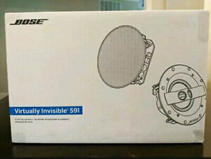Bose Virtually Invisible 591 In-Ceiling Speaker (Pair White) New Free Shipping!