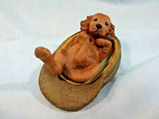 Princeton Gallery 1992 Dogs Night Cap Porcelain Playful Pup 2 piece set