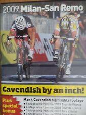 MARK CAVENDISH BY AN INCH-(RARE CYCLING DVD)-2009 MILAN SAN REMO