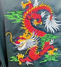 Reversible Robe Kimono Black Pink Dragon Silky Soft Size XL
