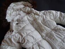 BABY GAP Tolle cremefarbene Rüschen Winterjacke mit Fleece gefüttert Gr.2T 92