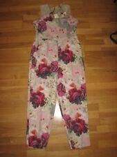 NEXT Pink Cream Floral STUNNING Jumpsuit Playsuit Size 16 EU 44 & Tag