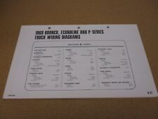 1969 Ford Bronco Econoline P trck wiring diagram SHEET schematics service manual