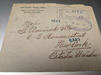 1915 Envelope from Guatemala to New York w/ 5 Stamps