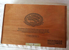 PADRON 3000 NATURAL WOOD CIGAR BOX -  NICE - BEAUTIFUL!