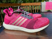 Adidas Ultra Boost St Women's Running Shoes AF6525 Shock Pink White Size 9.5