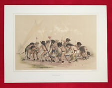 Buffalo Dance, By George Catlin,Native American Orig. Lithograph,Limited.Edition