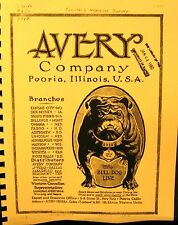 1918  Avery Sales   Information Manual  80  Fully Illustrated Pages Free Shippig
